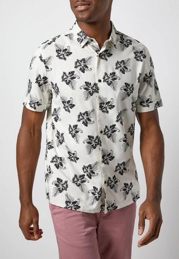 мужская рубашка с коротким рукавом burton menswear london, белая