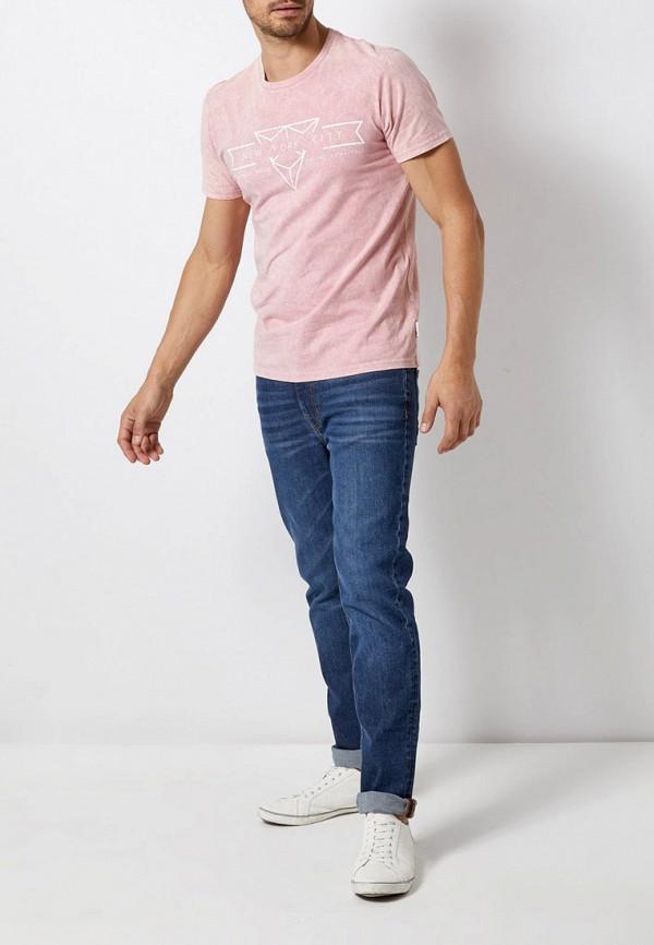 Фото 2 - мужскую футболку Burton Menswear London розового цвета
