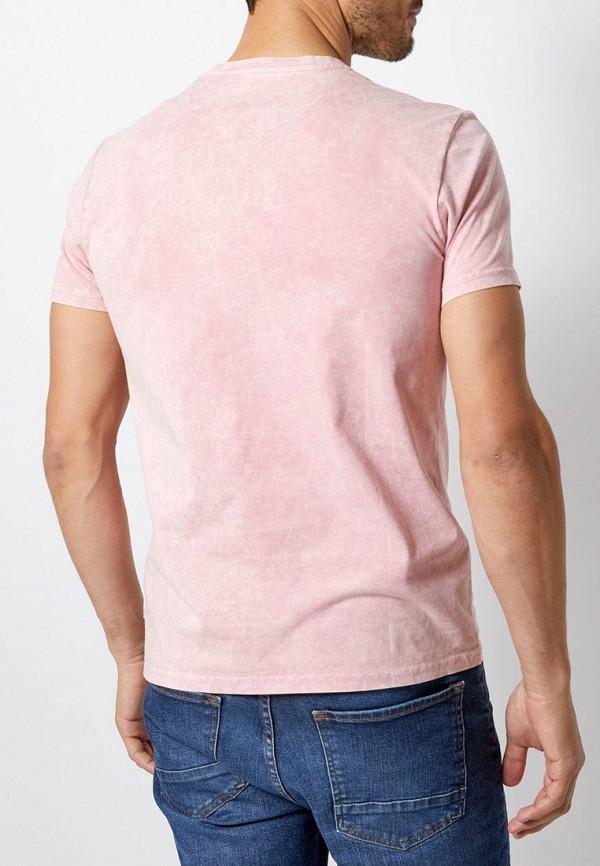 Фото 3 - мужскую футболку Burton Menswear London розового цвета