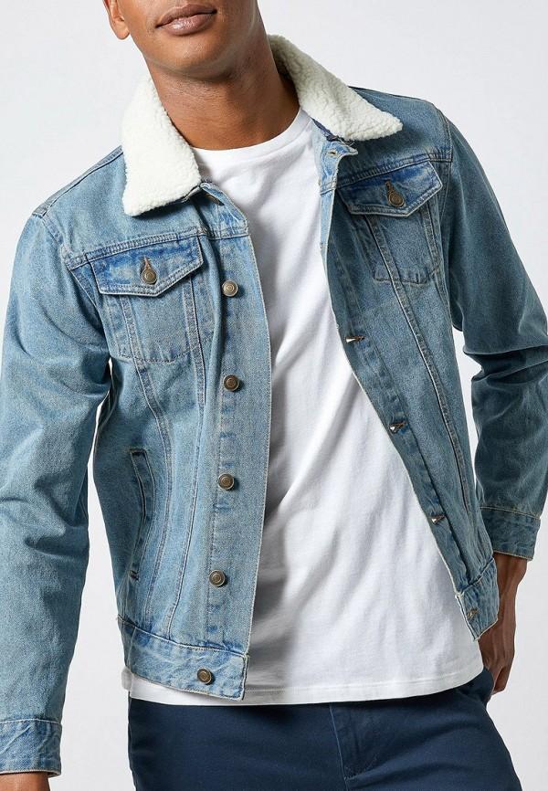 мужская джинсовые куртка burton menswear london, голубая
