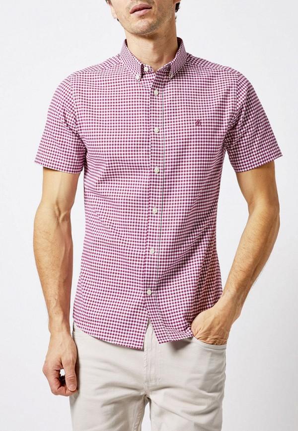 мужская рубашка с коротким рукавом burton menswear london, бордовая
