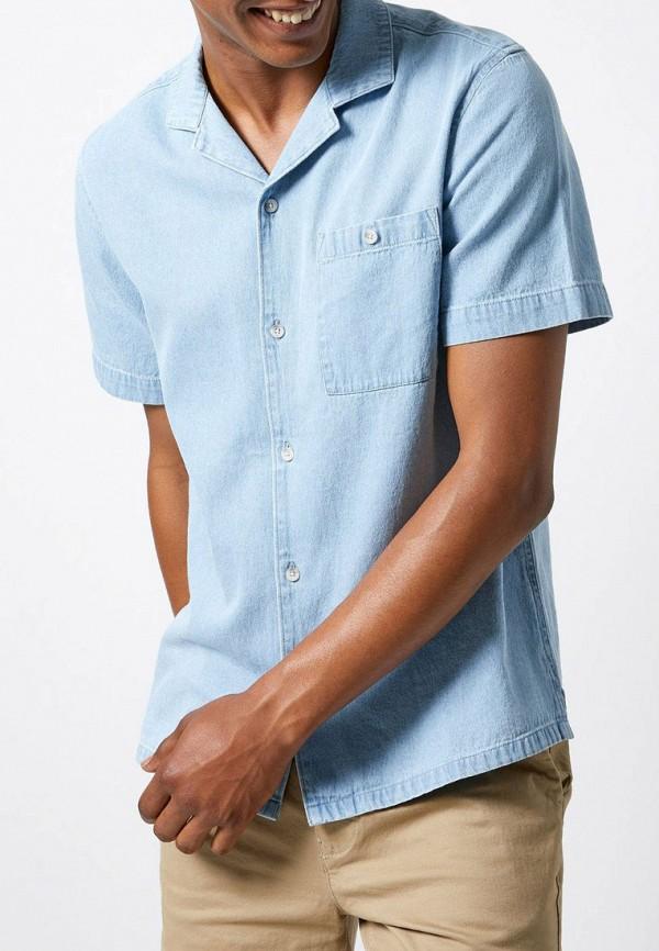 мужская рубашка с коротким рукавом burton menswear london, голубая