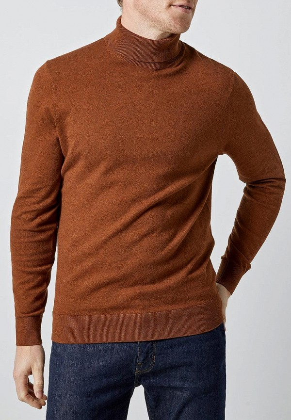 мужская водолазка burton menswear london, коричневая