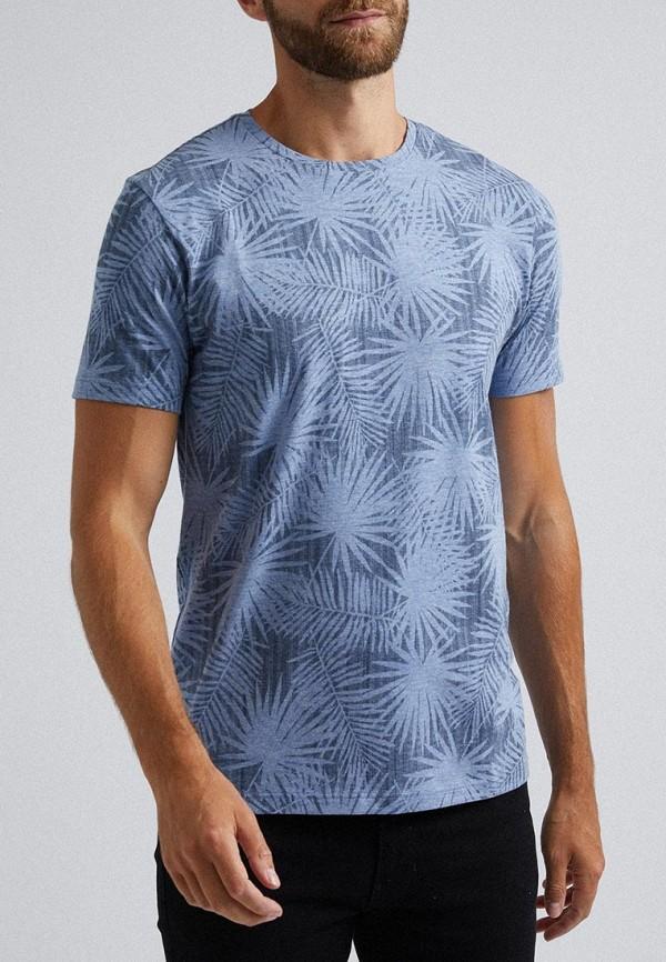 мужская футболка с коротким рукавом burton menswear london, голубая