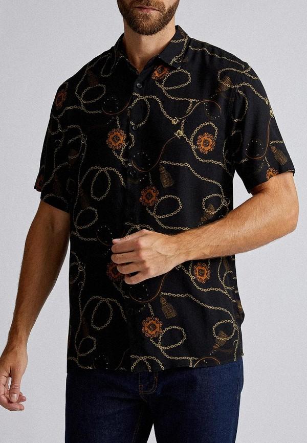 мужская рубашка с коротким рукавом burton menswear london, черная