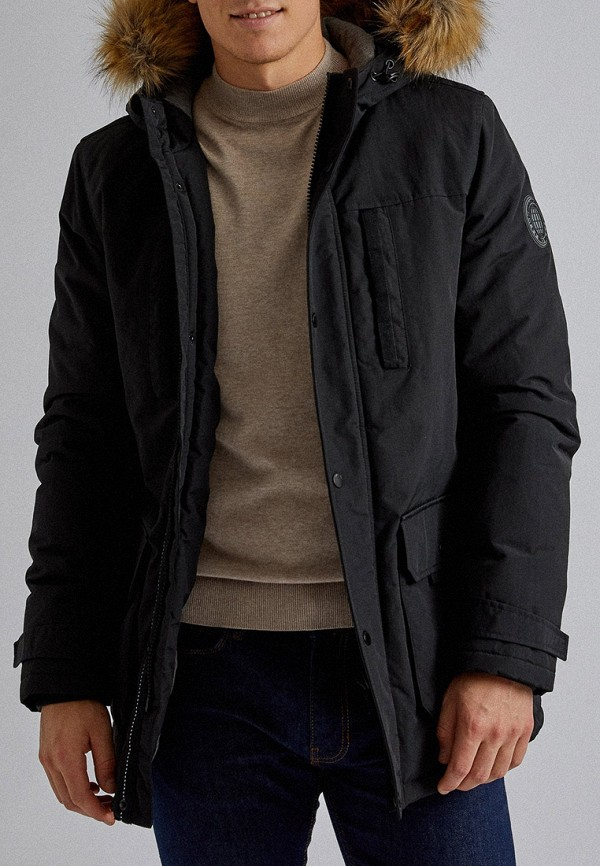 мужская парка burton menswear london, черная