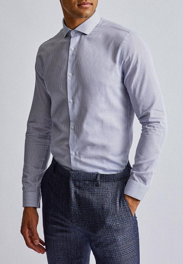 мужская рубашка с длинным рукавом burton menswear london, голубая