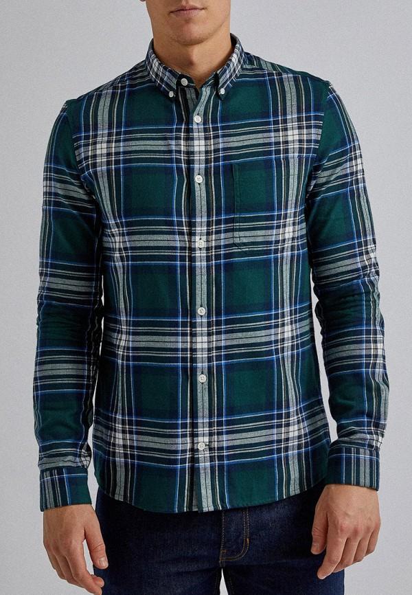 мужская рубашка с длинным рукавом burton menswear london, зеленая