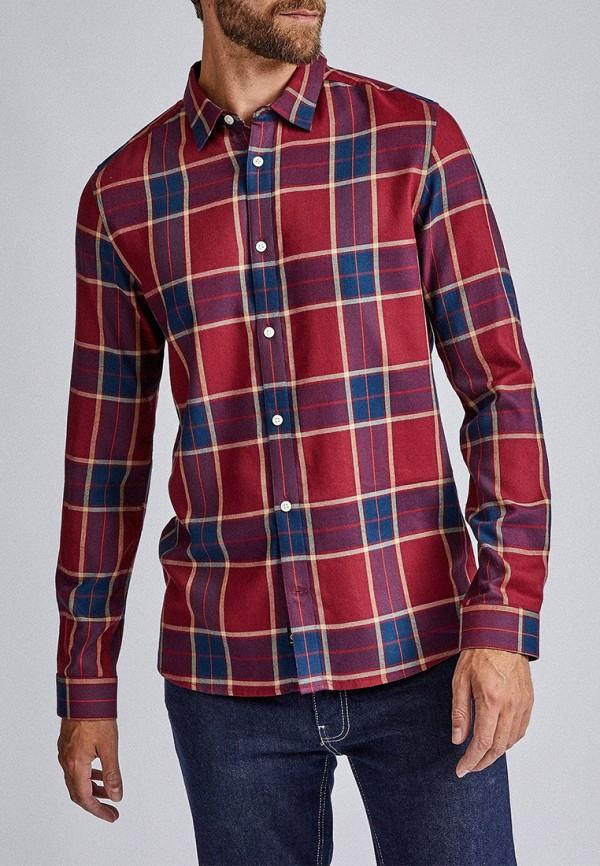 мужская рубашка с длинным рукавом burton menswear london, красная
