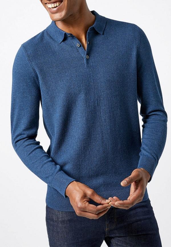 мужское поло burton menswear london, синее
