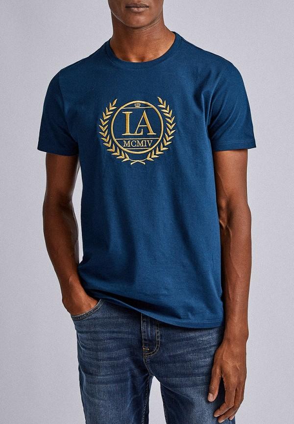 мужская футболка с коротким рукавом burton menswear london, синяя