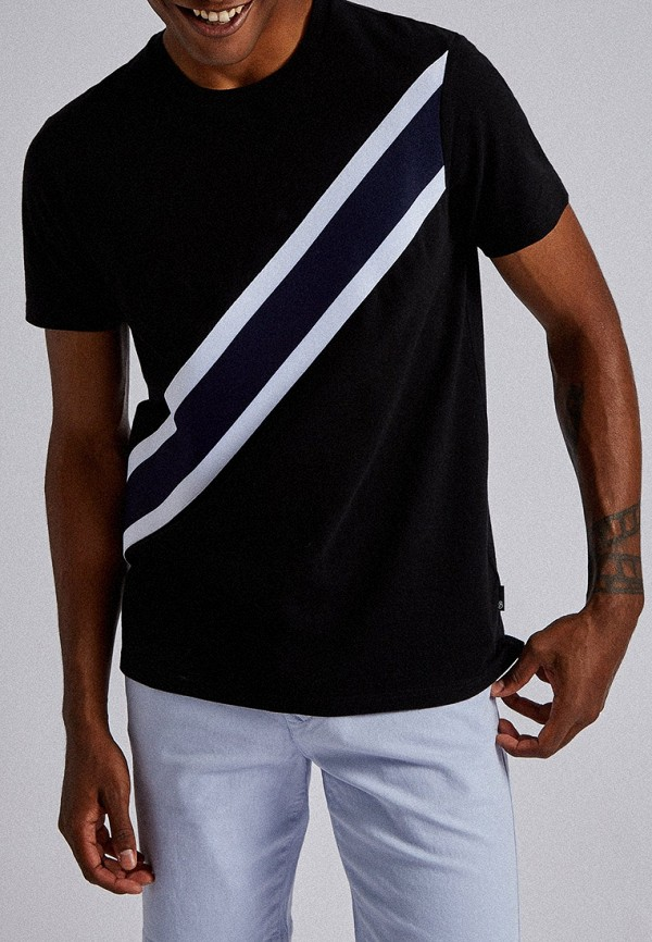 мужская футболка с коротким рукавом burton menswear london, черная