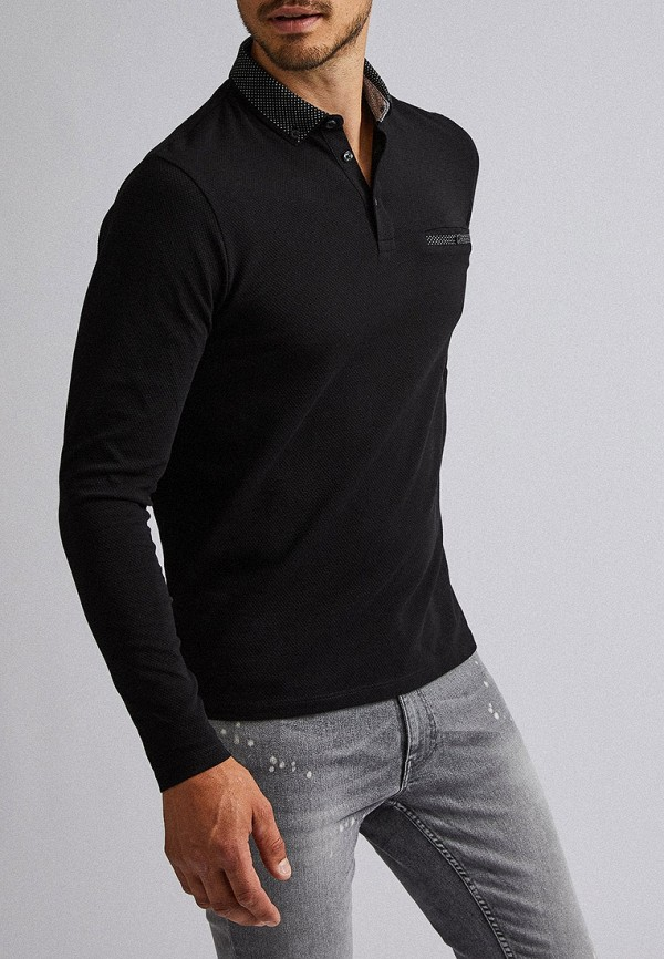 мужское поло burton menswear london, черное