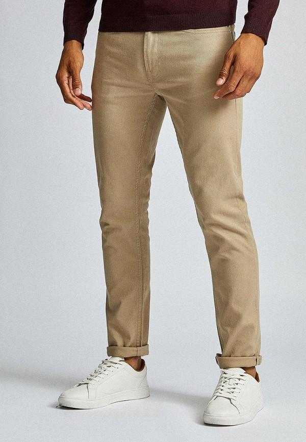 мужские зауженные брюки burton menswear london, бежевые
