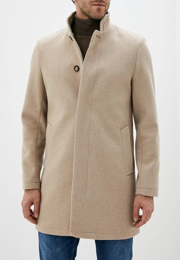 мужское пальто burton menswear london, бежевое