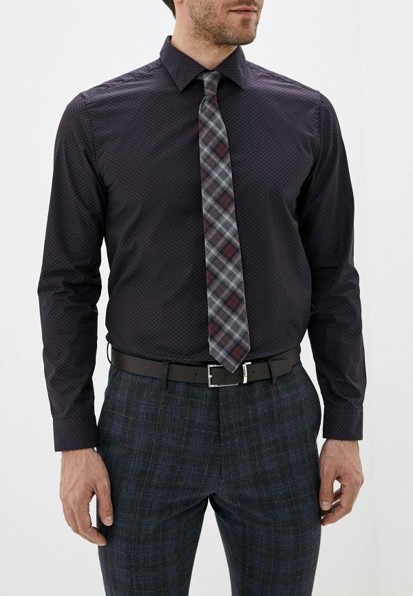 мужская рубашка с длинным рукавом burton menswear london, фиолетовая