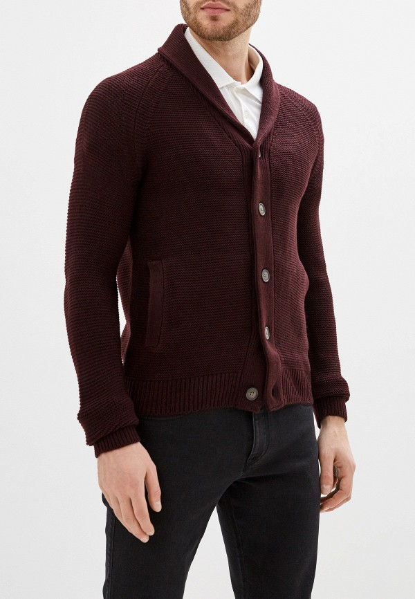 мужской кардиган burton menswear london, бордовый