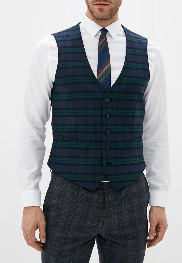 мужской жилет burton menswear london, разноцветный