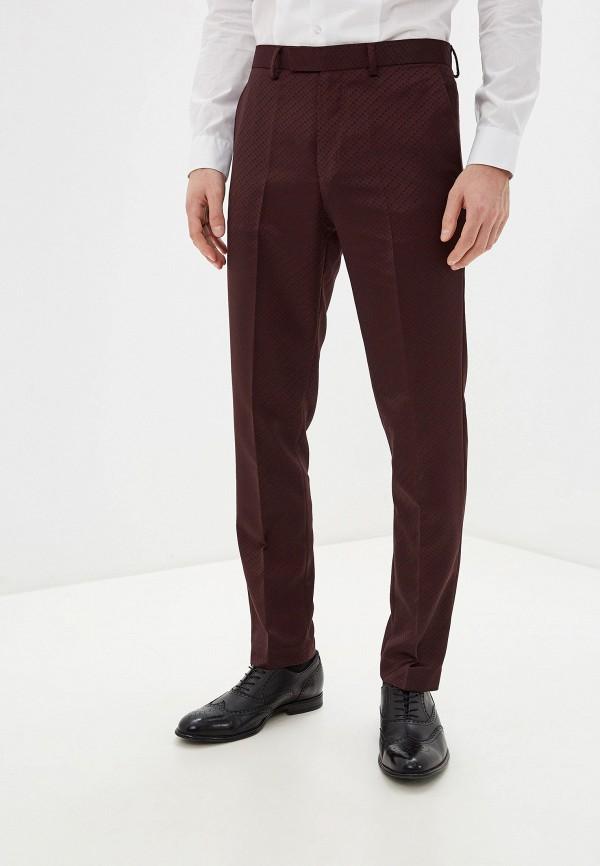 мужские классические брюки burton menswear london, бордовые