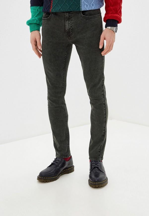 мужские зауженные джинсы burton menswear london, серые