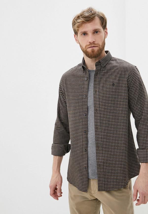 мужская рубашка с длинным рукавом burton menswear london, коричневая