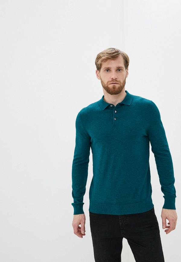 мужское поло burton menswear london, зеленое