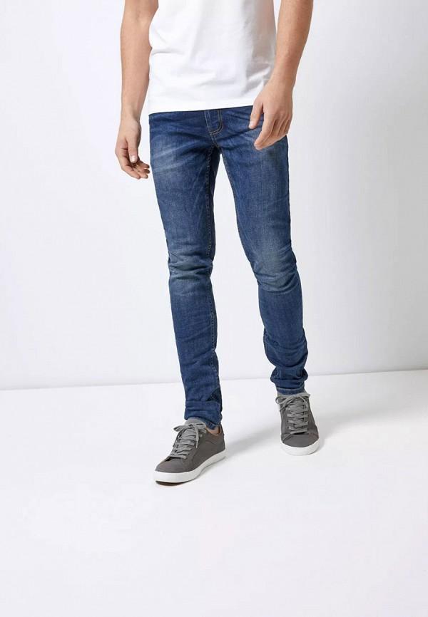 мужские зауженные джинсы burton menswear london, синие
