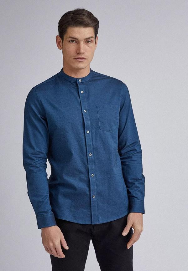 мужская рубашка с длинным рукавом burton menswear london, синяя