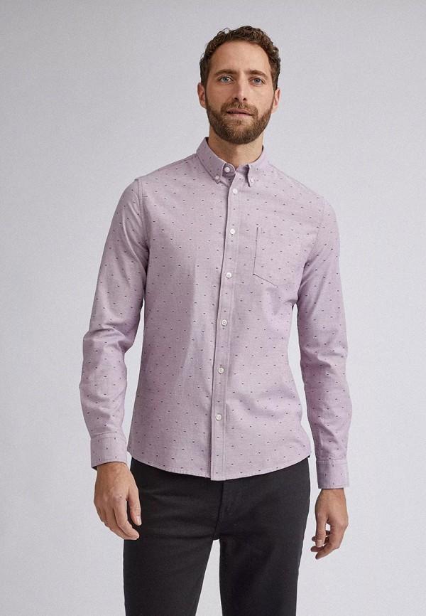 мужская рубашка с длинным рукавом burton menswear london, розовая
