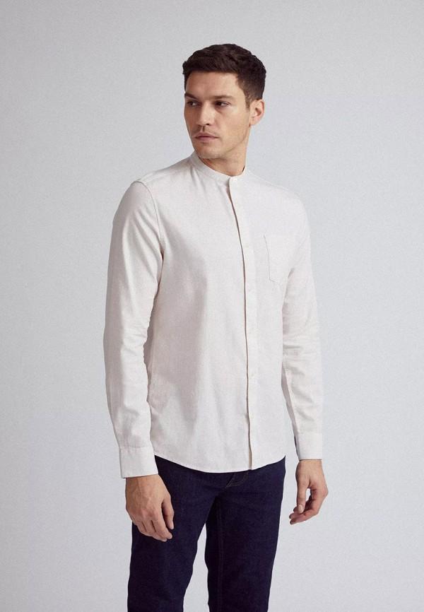 мужская рубашка с длинным рукавом burton menswear london, белая
