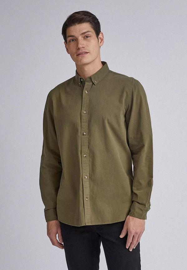 мужская рубашка с длинным рукавом burton menswear london, хаки