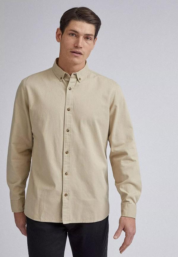 мужская рубашка с длинным рукавом burton menswear london, бежевая