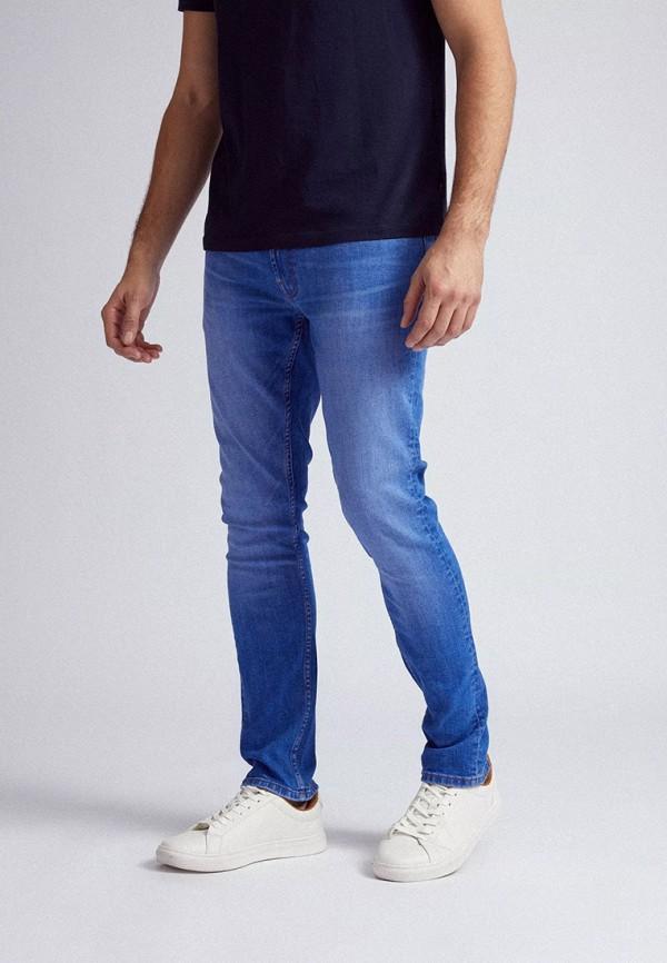 мужские зауженные джинсы burton menswear london, голубые