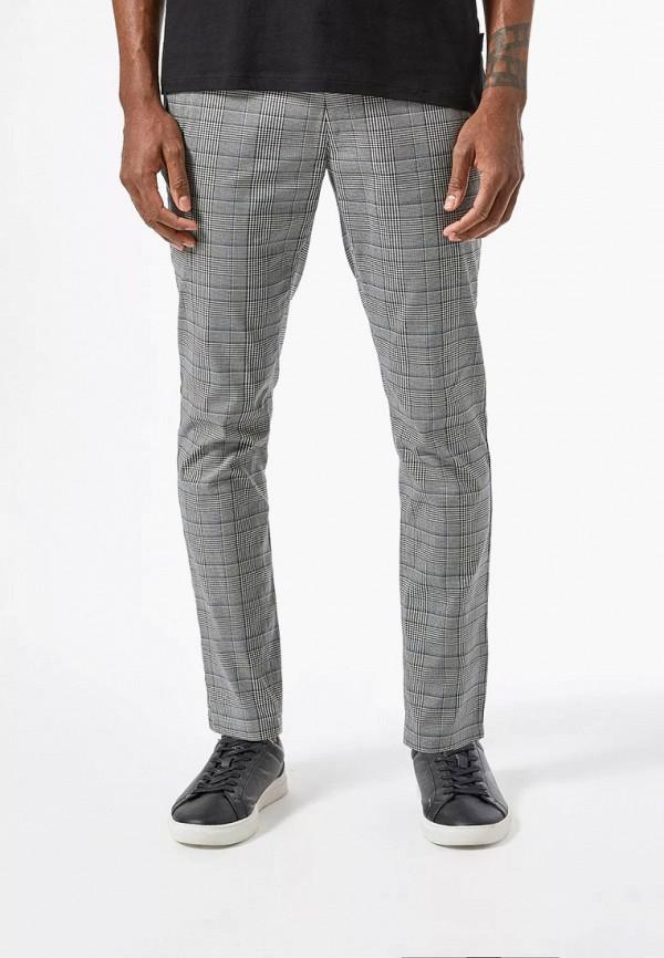 мужские зауженные брюки burton menswear london, серые