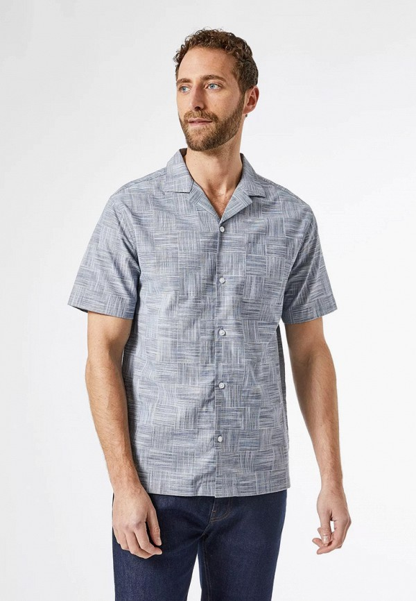 мужская рубашка с коротким рукавом burton menswear london, серая