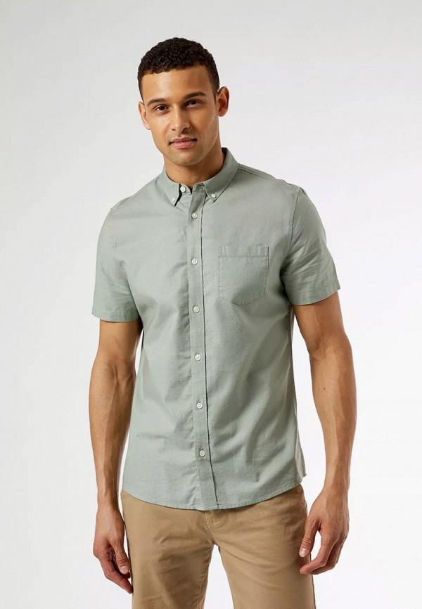 мужская рубашка с коротким рукавом burton menswear london, зеленая
