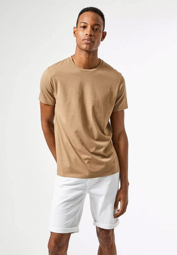 мужская футболка с коротким рукавом burton menswear london, бежевая