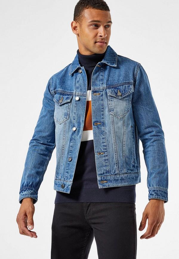 мужская джинсовые куртка burton menswear london, синяя