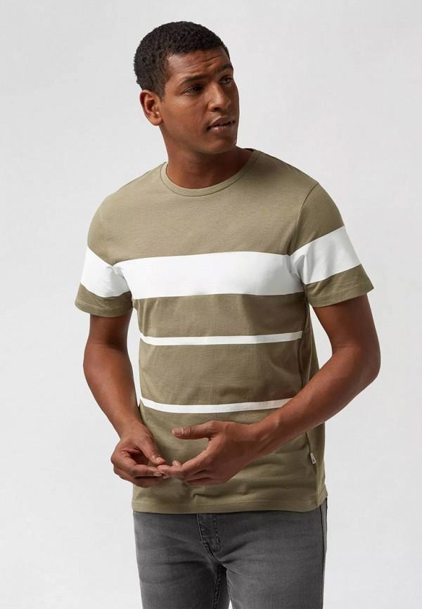 мужская футболка с коротким рукавом burton menswear london, хаки