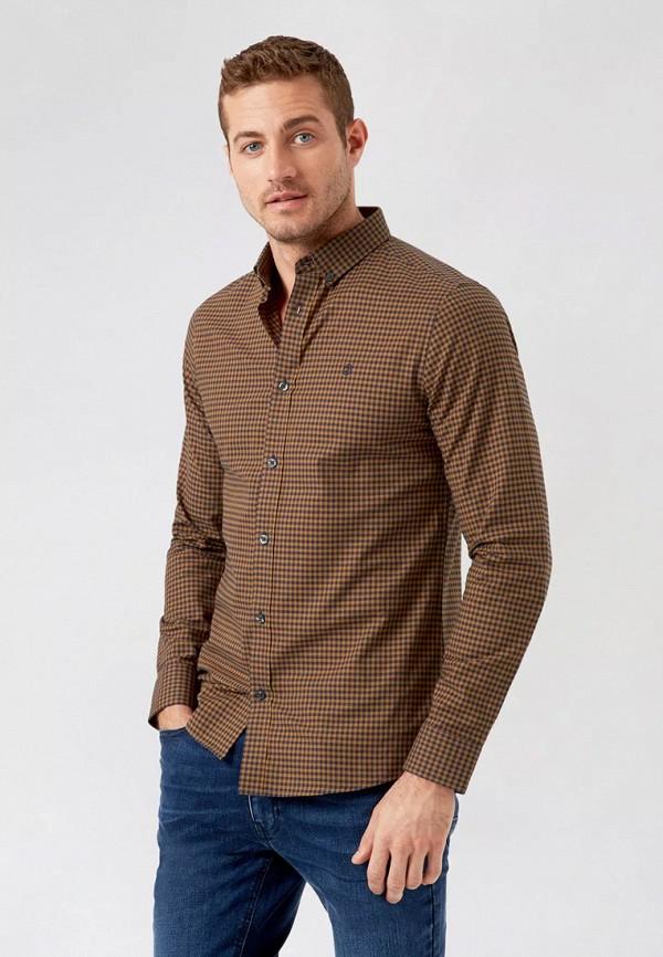 мужская рубашка burton menswear london, коричневая