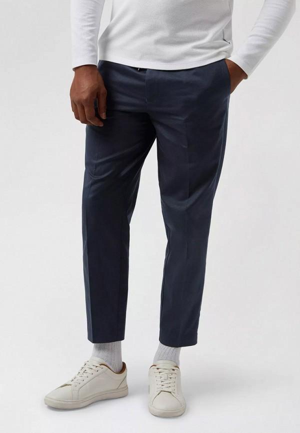 мужские зауженные брюки burton menswear london, синие