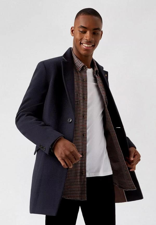 мужское пальто burton menswear london, синее