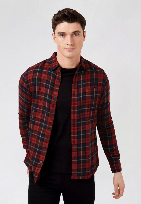 мужская рубашка с длинным рукавом burton menswear london, бордовая