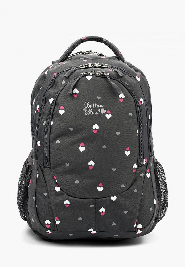 Купить Рюкзак Button Blue, bu019bgbqep2, серый, Осень-зима 2018/2019