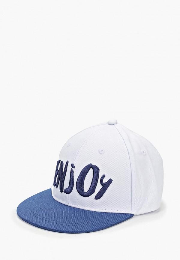 бейсболка button blue для мальчика, белая