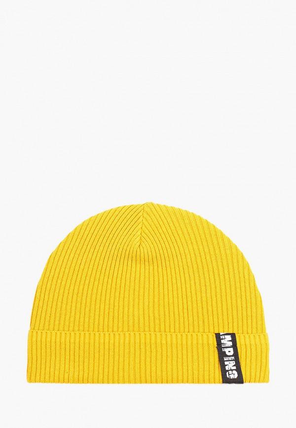 шапка button blue для мальчика, желтая