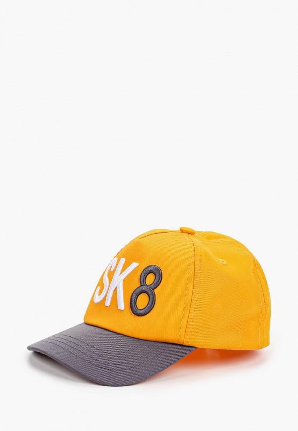 бейсболка button blue для мальчика, оранжевая