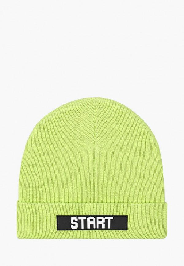 шапка button blue для мальчика, зеленая