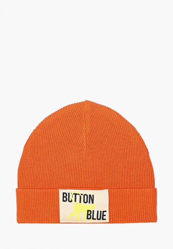 шапка button blue для мальчика, оранжевая