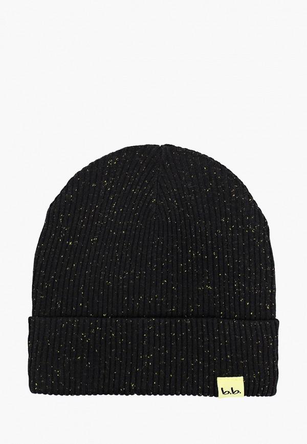 шапка button blue для мальчика, черная